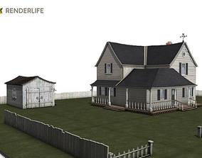 Old farmhouse exterior 3D model