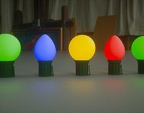Christmas Lights 3D asset