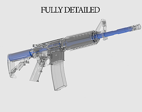 3D asset Ar 15 M1 Fully Detailed low