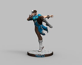 Street Fighter Chun Li - 3D Printing Model Diorama 1