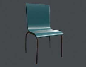 3D asset Simple Chair - School Chair - Canteen Chair