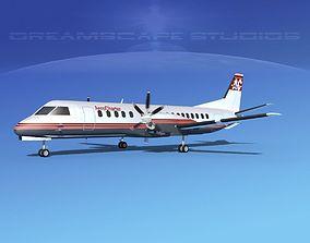 SAAB 2000 Davis Aviation 3D model