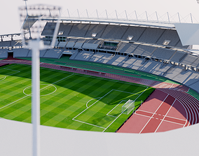 3D model Stade Sebastien Charlety - Paris