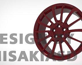 stp Wheel Rim Metal 3D model STR FORGED-02