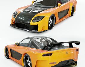 3D asset realtime Mazda RX-7 Veilside Fortune