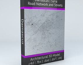 city 3D model Damascus Road Network and Streets