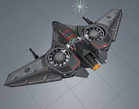 Drone with rig 3D model