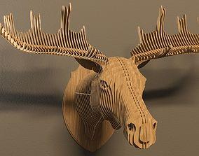 Elk head 3D model