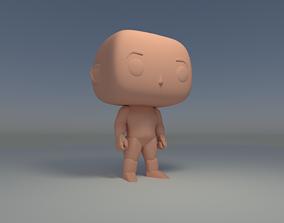 Custom Pop Man Hairless 3D Print Model