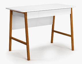 3D asset Mid Century Office Desk