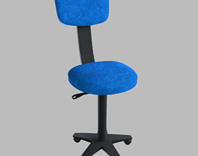 writing Office Chair 3D asset low-poly