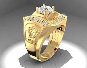 3D print model LUXURY DIAMOND VERSACE RING FOR MEN
