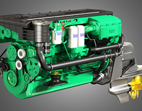 3D model Volvo Penta Engine D6-330