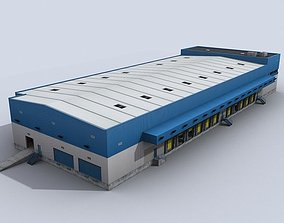 Modular Logistics Building 3D model