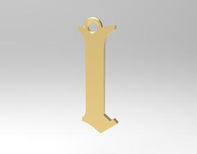 3D printable model Gothic Alphabets Little L Pendants