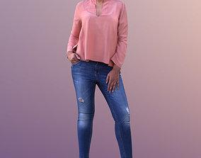 3D asset Amaya 10536 - Standing Casual Woman