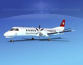 3D SAAB 2000 SkyWork