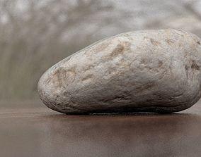 Eroded Limestone Pebble 3D
