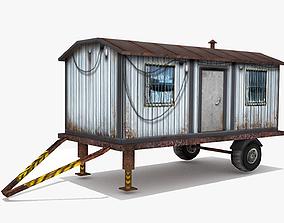 3D asset Cargo Trailer LOW POLY