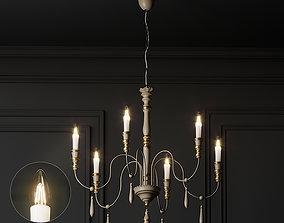 modern 3D Casa Florentina Antonio 6-Light Chandelier
