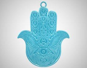 Hamsa Hand Necklace 3D print model