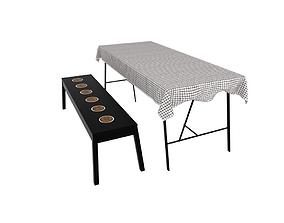 3D model Garden Table Set