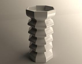 3D printable model flower Modern vase