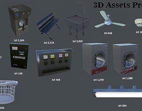 Laundromat 3D asset