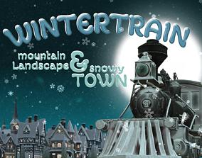 3D asset Winter Train