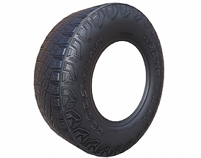 3D asset Tire SUV Low-Poly