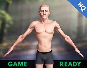 Game Ready Character Man Stylized Cartoon Male 3D asset 1