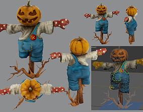 3D model garden scarecrow