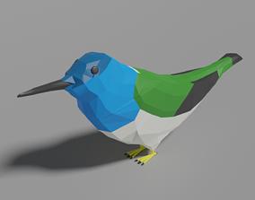 3D asset Cartoon Hummingbird