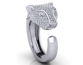 3D print model Lion Head Ring with Detail
