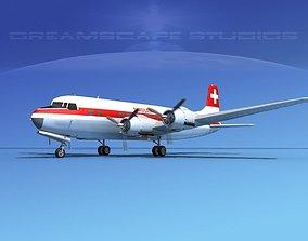 Douglas DC-6 Swissair 3D
