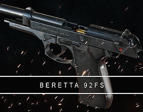 3D model Beretta 92FS Gameready PBR Pistol