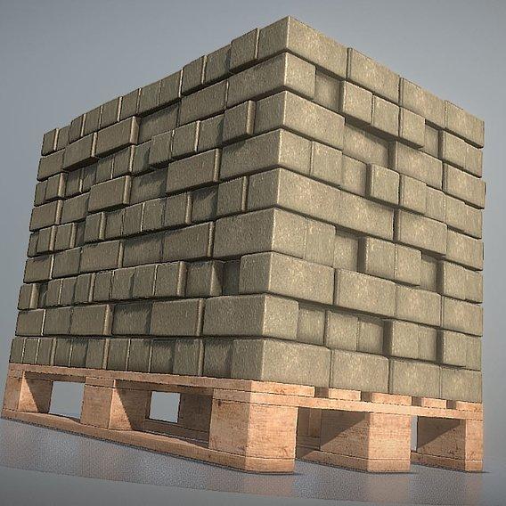 Animated Cobblestones on a Europallet