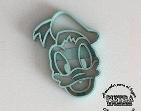 MOLDE CORTANTE PARA GALLETAS FONDANT DONALD 3D print model
