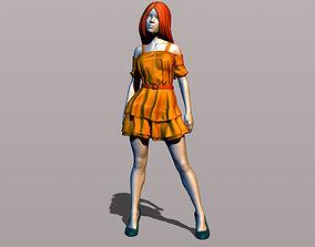 3D printable model Pretty girl in summer dress