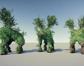 3D model animated Tree Creature Forest Ent