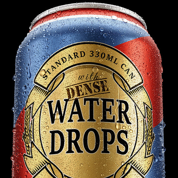 Standard 330ml Can with Dense Water Drops
