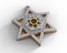 Star of David israel 3D print model