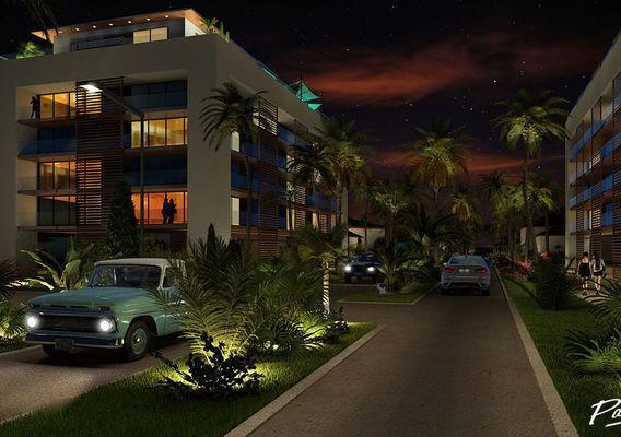 Resort project in Guadeloupe island scene