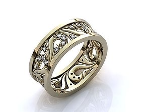 milling 3D print model Ring 42