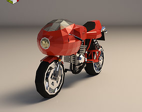 Low Poly Motorcycle 02 3D model