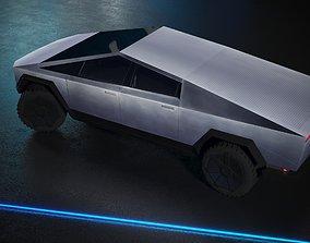 3D model Cybertruck Elon Musk Tesla Textured