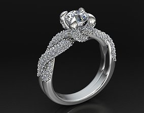 MGold009 - Beautiful Engagement Ring 3dmodel 3D print 3dm