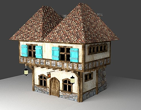 Low Poly medieval house 3D model VR / AR ready