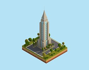 3D model Cartoon Lowpoly New York Empire State Building