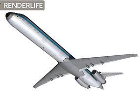 MD 80 Aircraft 3D model